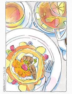 今日マチ子さんのWEB漫画「みかこさん」最新話にパンケーキが登場