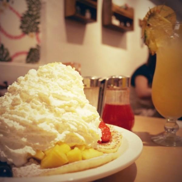 エッグスンシングス原宿店のパンケーキ