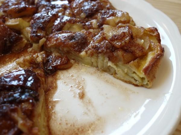 オリジナルパンケーキハウスのアップルパンケーキの断面