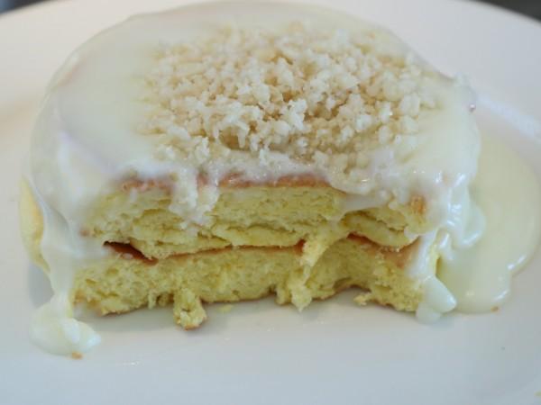 レインボーパンケーキのパンケーキ断面