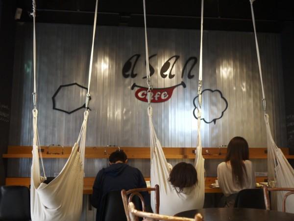 秋葉原のハンモックカフェ