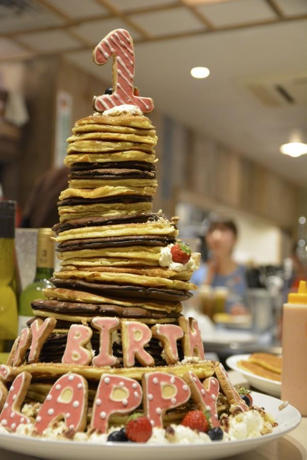 スラッピーケークスのパンケーキタワー
